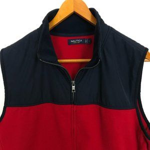 Nautica Large Men Blue Sleeveless Vest Zip Jacket